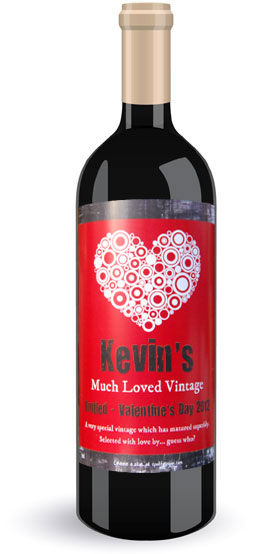 Valentines Wine Labels for someone special you love on the 14th of February