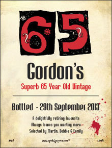 65th Birthday Label