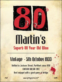 80th Birthday Label