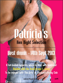 Hen Night Hunk Label