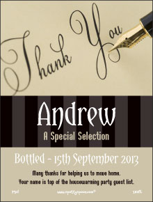 Pen Script Thank You Label