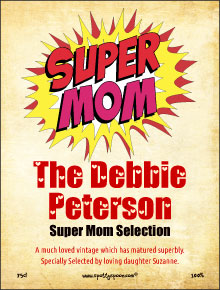 Super Mom Wine Label