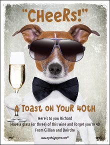 Cool Dog Toast Label