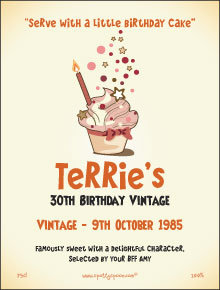 Little Birthday Cake Label