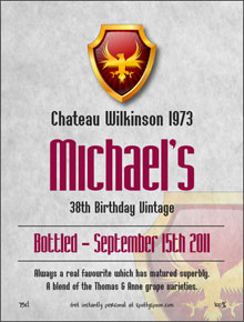Grand Emblem Birthday Label
