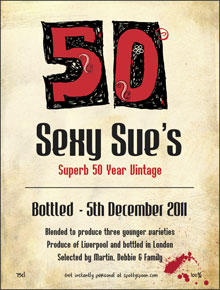 50th Birthday Label