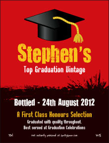 Modern Graduation Label