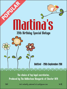 Garden Birthday Label